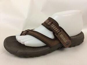 807d15f4036 Skechers Brown Strappy Shoes Womens 7 M Thong Sandal Flip Flop Toe ...
