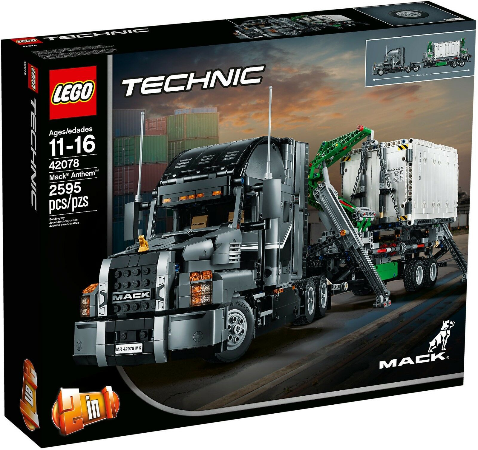 LEGO Technic 42078 - Mack Anthem NUOVO