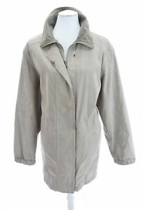 Vtg-FSL-Collection-Full-Zip-Up-Rain-Jacket-Beige-Sz-L-Pockets-Womens