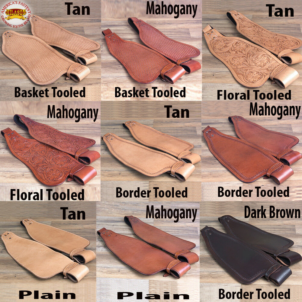 Replacement Saddle Fenders Hilason Leather Western Adult W Hobble Strap UPVX