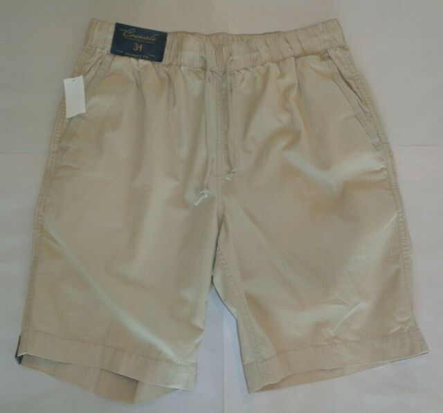 Roundtree /& Yorke Relaxed Fit Pleated Mens Shorts Size 48 Casual Khaki BLUE