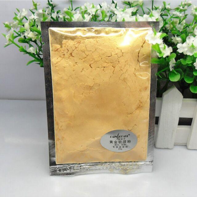 24K Gold Powder Gel type Active Clay Powder Skin Care Collagen Facial Face Mask