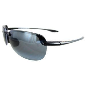 88b2e2fa5eba5 Maui Jim Sunglasses Sandy Beach 408-02 Gloss Black Grey 603429007621 ...