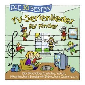 Die-30-Besten-TV-Serienlieder-fuer-Kinder-CD-NEU-amp-EINGESCHWEIssT