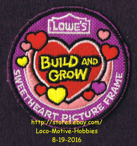 LMH PATCH Badge  2013 SWEETHEART PICTURE Frame Heart LOWES Build Grow Project