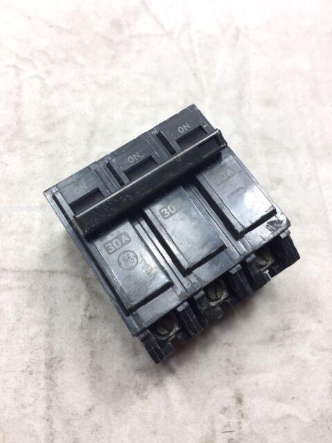 GE 30A THQL 3 Pole HACR Circuit Breaker