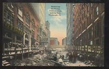 1910s POSTCARD PITTSBURGH PA/PENNSYLVANIA 5TH AVE EAST REMOVING THE HUMP