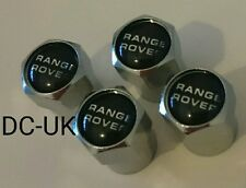 RANGE ROVER Plastic Chrome Wheel Tyre Valve Dust Caps for Sport VOGUE EVOQUE 4x4