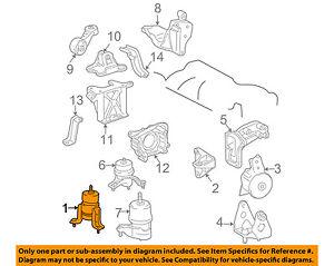 TOYOTA OEM 04-06 Sienna-Engine Motor Mount Torque Strut 123610A130 | eBayeBay