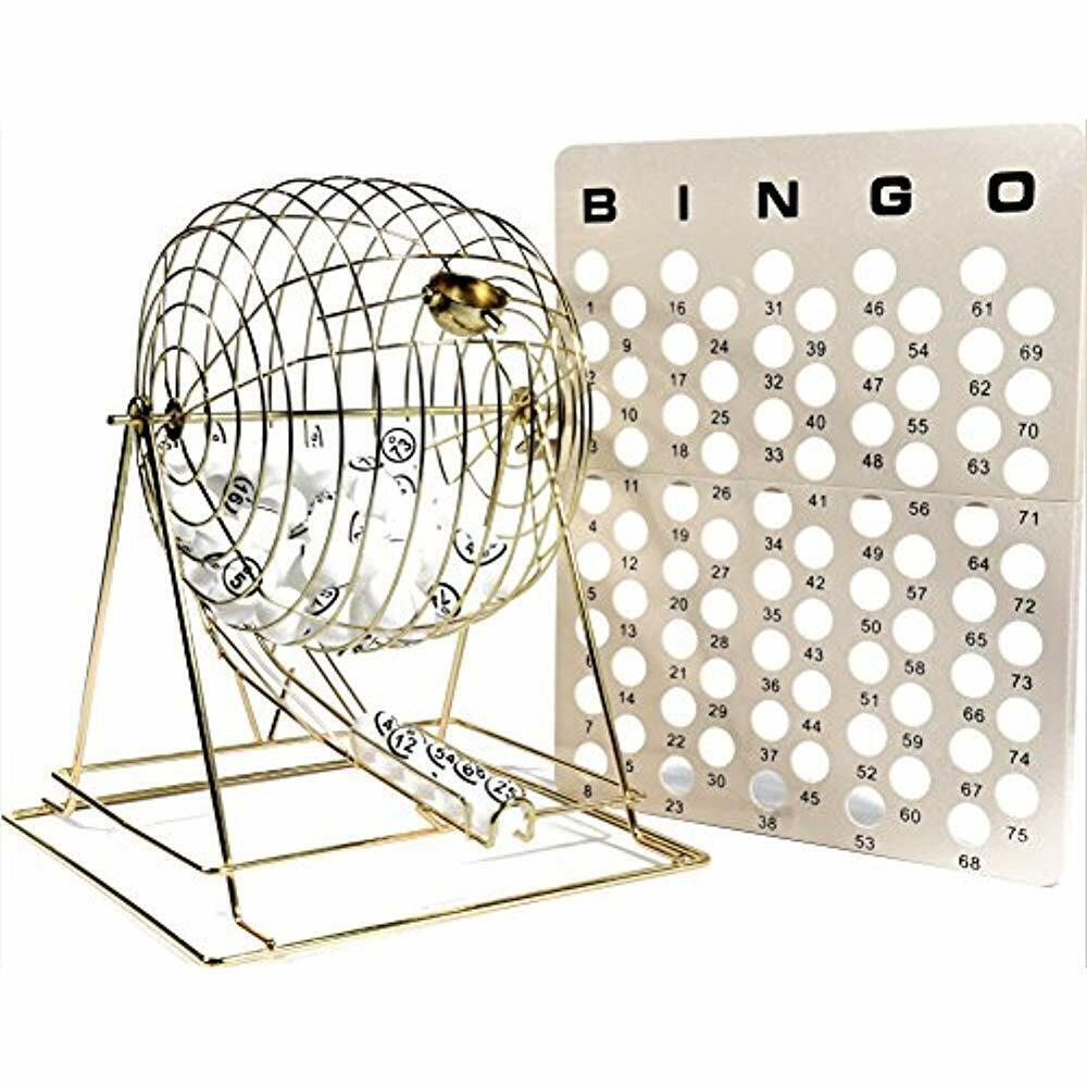 Jumbo Professional Brass Ping Pong Ball Bingo Cage Sports & Outdoors Sets