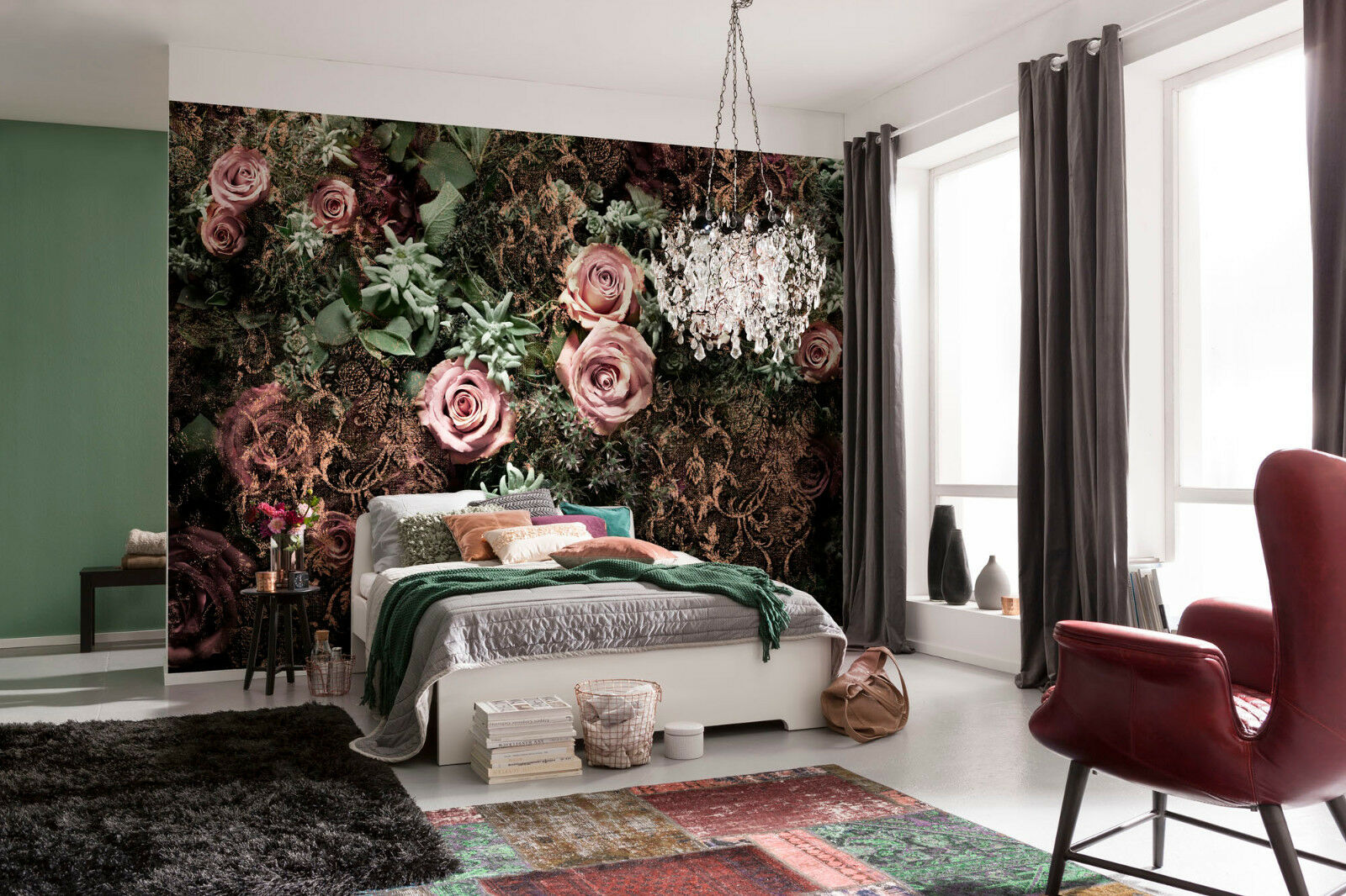 Riesiges Tapete schwarz Wandkunst für Schlafzimmer Wohnzimmer Wände ...