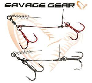 Savage-Gear-Tire-Bouchon-Stingers-Double-2pcs-Carbon49-Cable-Leurre-Peche-Pike