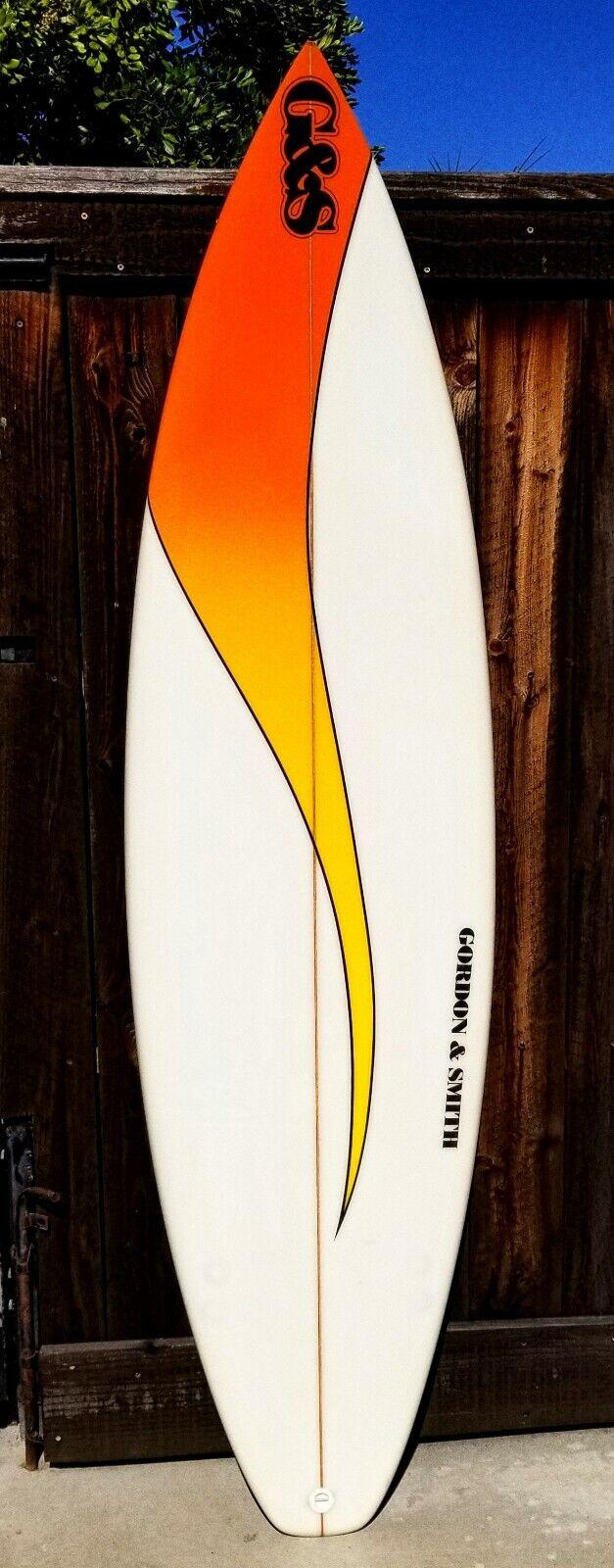 6' 6  G&S Gordon & Smith Onda anhelan Modelo Tabla de Surf FCS propulsor de configurar  nuevo