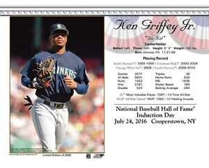 128f6d277d Image is loading KEN-GRIFFEY-JR-SEATTLE-MARINERS-8X10-2016-HALL-