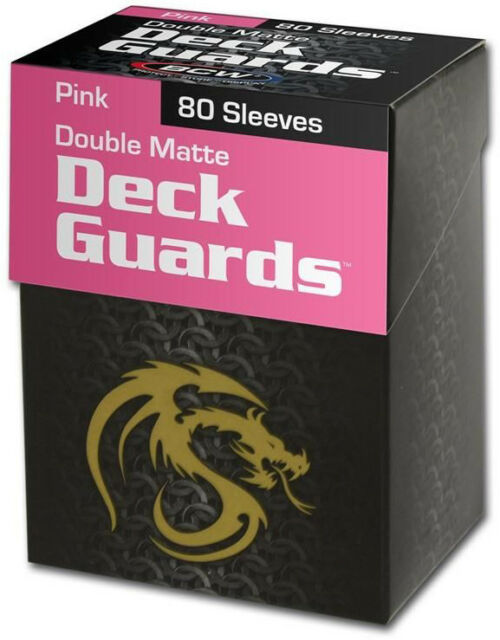 BCW DECK GUARDS BOX AND DECK PROTECTORS STANDARD MATTE PINK (80 SLEEVES)