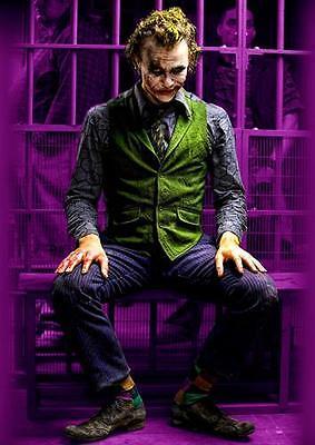 THE JOKER Batman Dark Knight Heath Ledger Wall Art Print Pic Photo Poster A3 A4