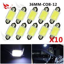 10 X White 36mm 12smd COB LED DE3022 Bulbs For Car Interior Dome Map Light DC12V
