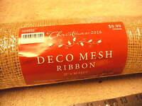 Hobby Lobby Gold Deco Mesh Ribbon 21 X 30' , In The Wrap