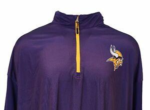 Minnesota-Vikings-Intimidating-Majestic-Mens-NFL-1-4-Zip-Purple-Pullover-5XL-6XL