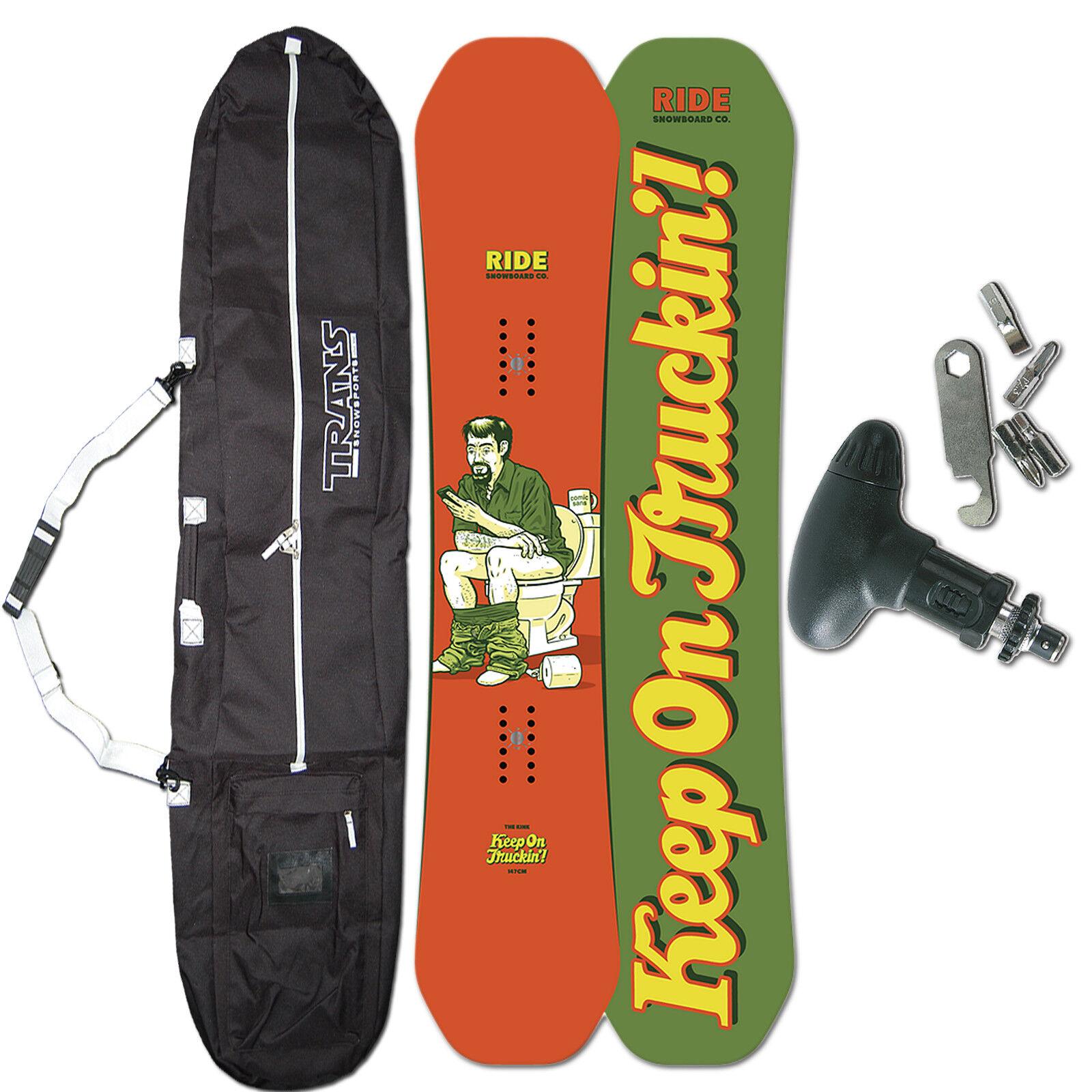 RIDE HERREN FREESTYLE SNOWBOARD KINK  147 CM + BAG + TOOL