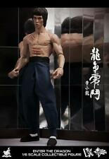 "Bruce Lee Enter the Dragon Wing Chun Jeet Kune Do DX04 12"" Figur Hot Toys"