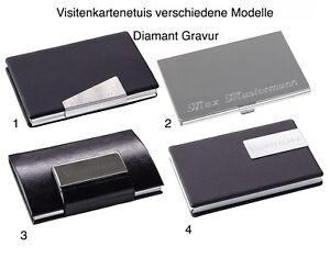 Visitenkartenetui-Visitenkartenbox-Lederoptik-Aluminium-mit-Wunsch-Gravur-NEU
