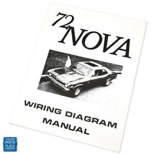 1972 Nova Wiring Diagram Manual Each | eBay