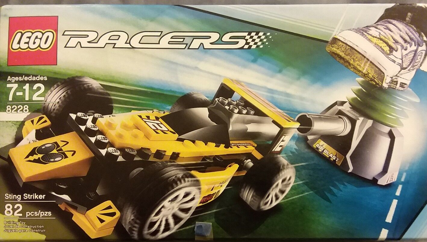 LEGO 8228 - Racers: Power Racers Sting Striker 82pcs RARE Worn Box SEALED fr/shp