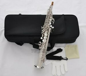 Details about 5% off Prof Silver Nickel Eb Sopranino Saxophone Sax Low Bb  High F# with Case