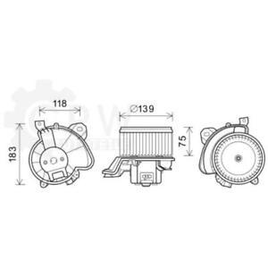 Electric Motor Heater Blower Fan Vauxhall Fiat Punto / Grande 199 1.6 Turbo
