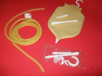 2 Qt Premium Fountain Style Personal Douche And Enema System Bag Amber Fill Top