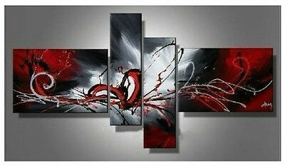 Hot sell new 4pc Huge WALL Modern Abstract on Canvas decorative Oil Painting Art