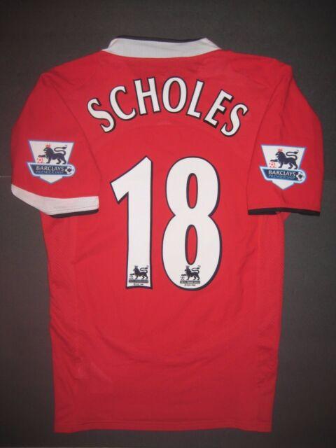 13859ab928c 2004-2006 Authentic Nike Manchester United Paul Scholes Jersey Shirt Kit  England