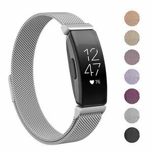 Details about Fitbit Inspire/Inspire HR Milanese Stainless Steel Magnetic  Replacement Band