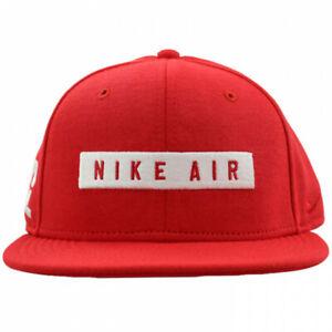 Nike-Air-92-True-SnapBack-Hat-Red-White-Box-Logo-803720-657-Adjustable-Mens-NEW
