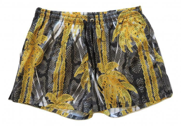 JUST CAVALLI men's swimsuit boxer shorts E6B640210.217 palm print TG.50