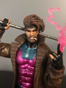 Marvel-Legends-Custom-NEW-GAMBIT-Head-ONLY-smoking-cigarette-Cast-fully-Painted
