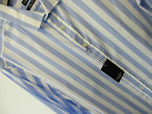 PAUL-SMITH-Camisa-Formal-Ajustado-43-2cm-EU43-034-Londres-034-Azul-Raya-DE-CARAMELO