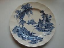 "Johnson Brothers ""The Old Mill"" blau, alter Kuchenteller, 20cm, mehrere"