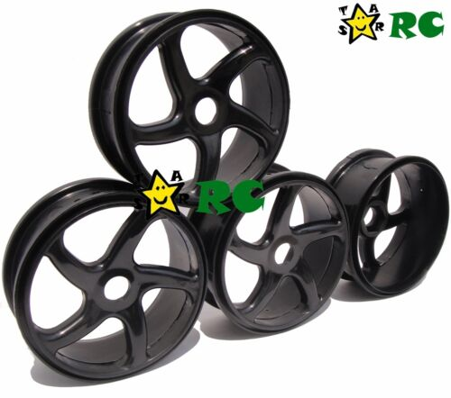 RC 4pcs 1/8 Plastic Wheels Rims Hex 17mm for HPI HSP Kyosho Buggy On Road Tires