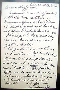 1924-CARTOLINA-POSTALE-AUTOGRAFA-DEL-PARROCO-DI-QUINZANO-IL-FAMOSO-DON-SPERANDIO