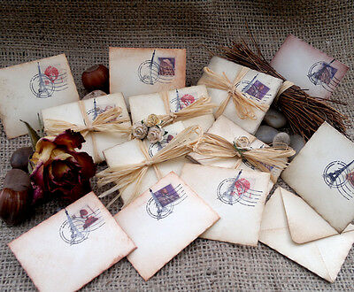 Miniature Envelopes: Perfect toppers, wedding favours - many designs available