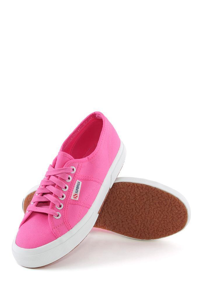 Superga 2750 Cotu Classic Canvas Sneaker FUSCHIA Lace-up sneaker Canvas Classic Pink tennis NEW 505b58