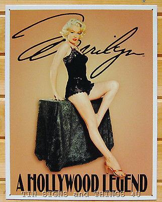 Marilyn Monroe Hollywood Legend TIN SIGN metal poster pinup bar garage decor 650