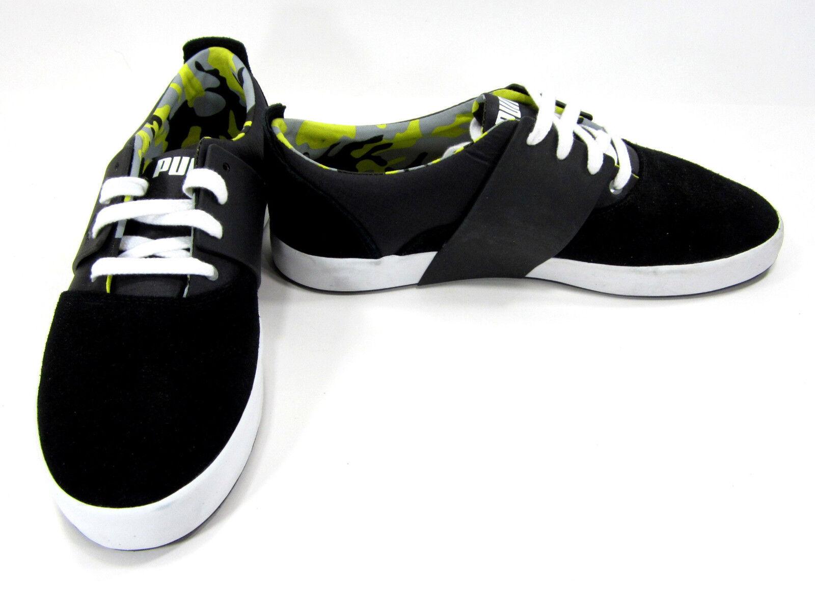 Puma Shoes El Ace 3 City Suede Black/White Sneakers Comfortable