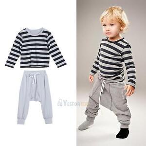2PCS Kids Baby Toddler Boy Clothes Set T-shirt Tops Pants Leggings Outfits Set