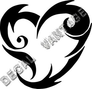 20-034-Inch-Tribal-Heart-Vinyl-Sticker-Decal-Choose-Color