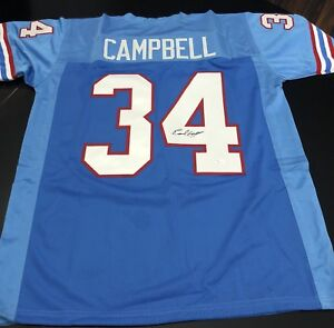 new concept 5a9a2 98351 Details about Earl Campbell Signed Authentic Houston Oilers Jersey JSA  Witness