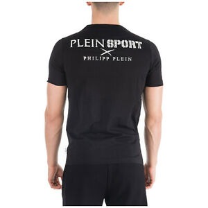 PHILIPP-PLEIN-SPORT-MENS-LOGO-STATEMENT-T-SHIRT-ROUND-NECK-SHIRT-TOP-SHIRT-XXL