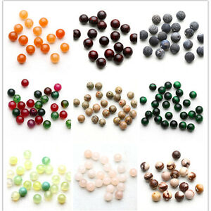 Natural-Jade-Gemstone-Round-Loose-Spacer-Beads-4MM-6MM-8MM-10MM-Charm-Jewelry